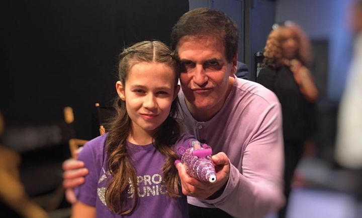 Jordan Reeves' glitter-blasting arm got the seal of approval from Mark Cuban.