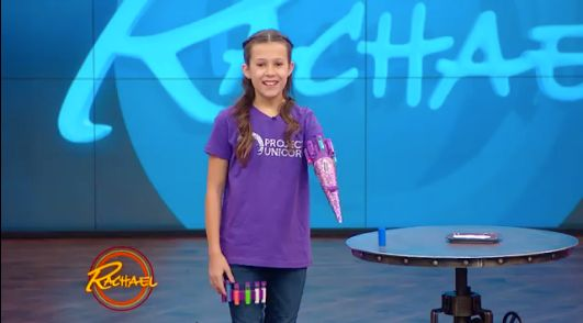 This Awesome 11-Year-Old Girl Designed A Prosthetic Arm That Shoots