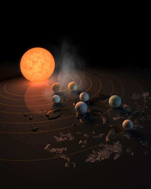 NASA Has Discovered Seven Earth-Like Planets Orbiting A Single Nearby