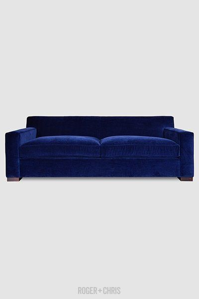 "<strong>Bobby couch, $1,399, from <a href=""http://www.rogerandchris.com/product/325/bobby-modern-sofa"" target=""_blank"">R"