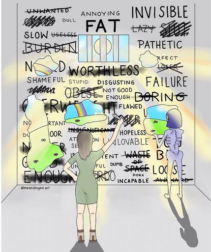 Woman's Raw Illustrations Show The Reality Of Battling An Eating