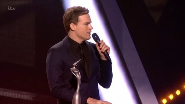 Michael C Hall collected the award on behalf of David Bowies