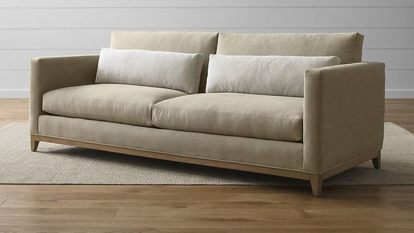 "<strong>Taraval 2-seat sofa with oak base, $2,499, from <a href=""http://www.crateandbarrel.com/taraval-2-seat-sofa-with-oak-b"