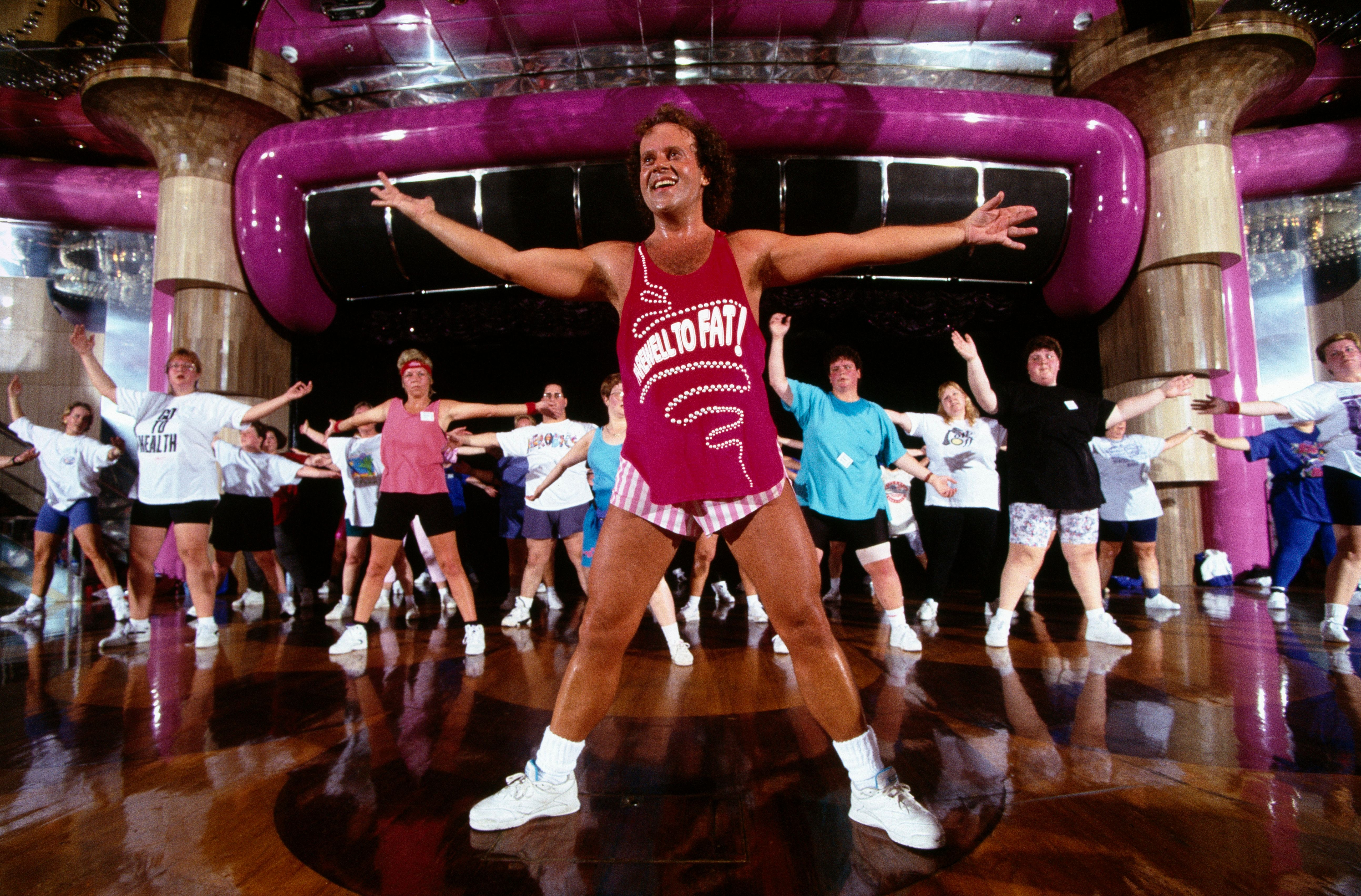 """Richard Simmons on a 1996 """"Cruise to Lose,"""" which sailed through the Carribbean."""