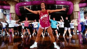 Famous American fitness coach Richard Simmons during his Cruise to Lose, which sails through the Caribbean. (Photo by Evan Hurd/Sygma/Sygma via Getty Images)