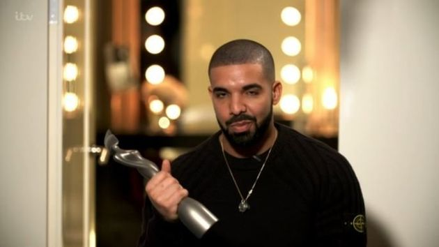 Drake sent in a video message to collect his