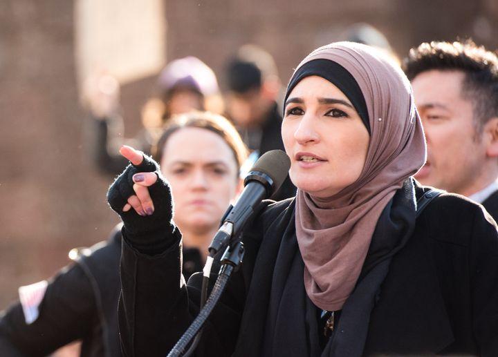 Muslim activist Linda Sarsour received online threats last week.