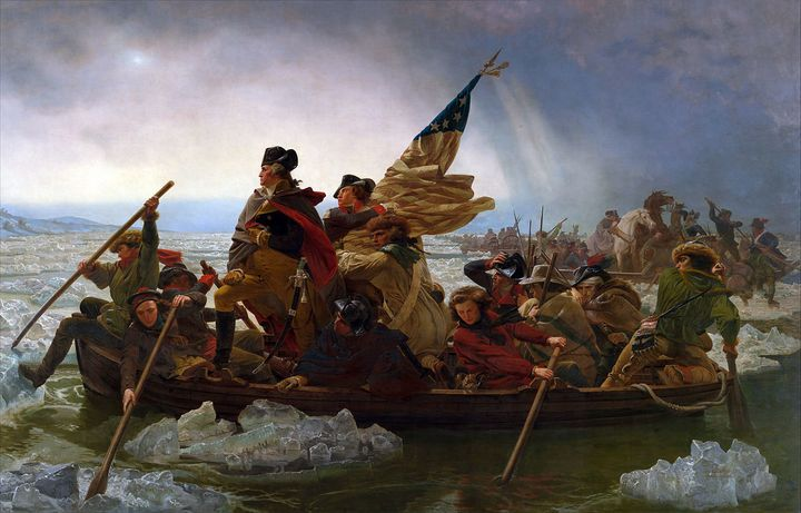 "Emanuel Leutze's ""Washington Crossing the Delaware,"" 1851."
