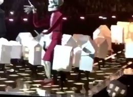Katy Perry's Dancer Takes An Unfortunate Tumble During Brit Awards Performance