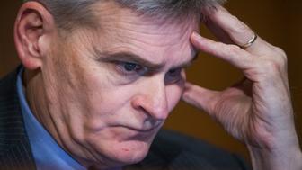 UNITED STATES - JANUARY 19: Sen. Bill Cassidy, R-La., attends the Senate Finance Committee confirmation hearing for Steven Mnuchin, President-elect Trump's nominee for Treasury secretary, in Dirksen Building, January 19, 2017. (Photo By Tom Williams/CQ Roll Call)