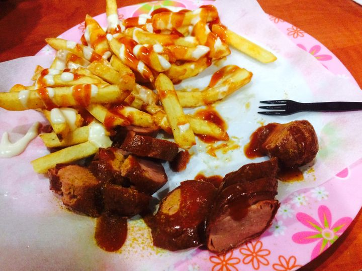 Currywurst, a German dish offried pork and sauce, won't be served at functions hosted by Germany's environment ministry
