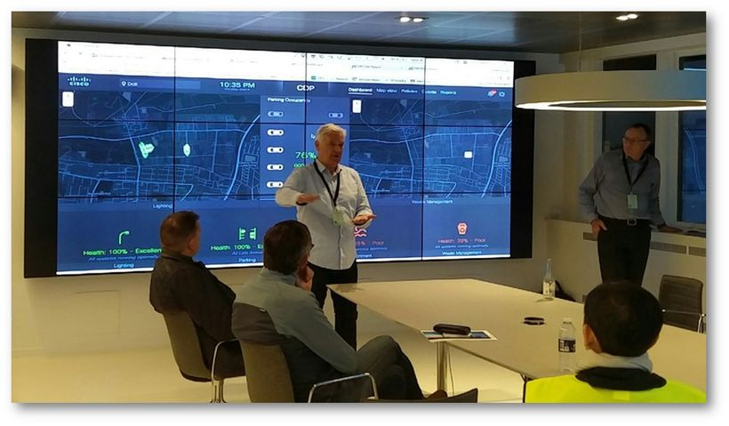 The connected digital platform for cities developed by CISCO and TDC, the Danish phone company, reflects the status of local