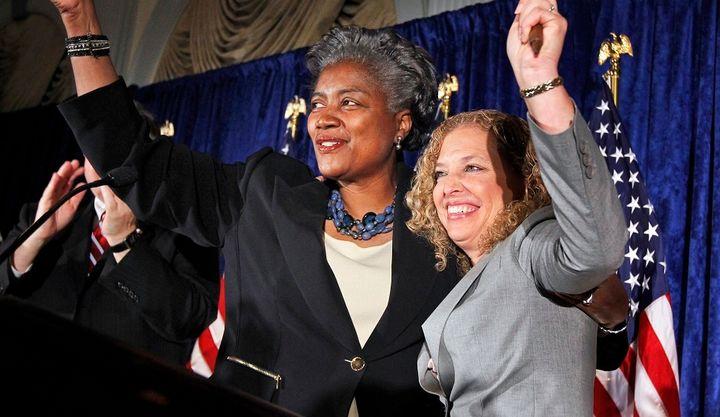 Donna Brazile and Debbie Wasserman Schultz