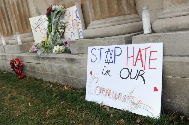 Signs of solidarity at the
