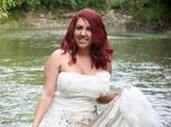 Woman Wades Through Mud Then Sets Wedding Dress On Fire To Celebrate Her Divorce