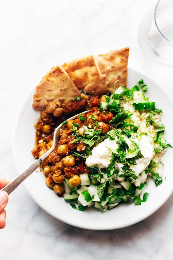 """<strong>Get the <a href=""""http://pinchofyum.com/morrocan-spiced-chickpea-glow-bowl"""" target=""""_blank"""">Moroccan-Spiced Chickpea B"""