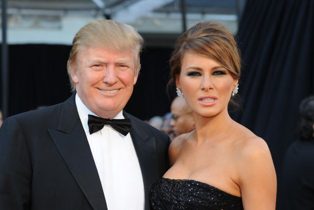 Donald Trump and his wife Melania are shown attending the 2011 Academy Awards, but the president apparenlty...