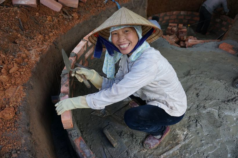 In Vietnam, the project trained  female masons to construct biogas digesters. They are all now accredited as masons for gover