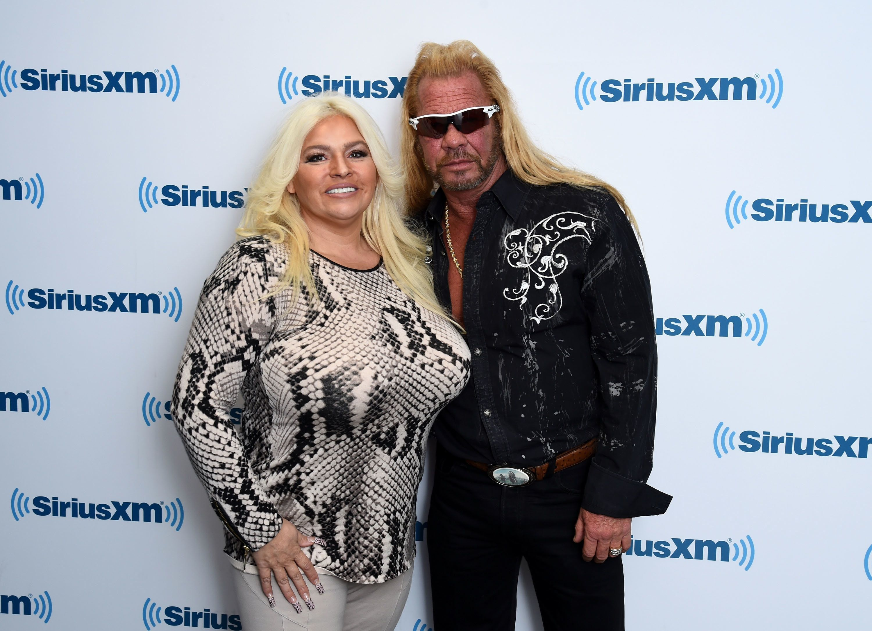 "Duane ""Dog the Bounty Hunter"" Chapman and his wife, Beth, visit the SiriusXM studios in New York City, April 24, 2015."