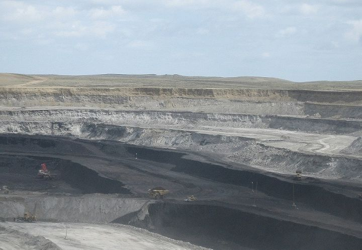 Coal extraction at the Powder River Basin.