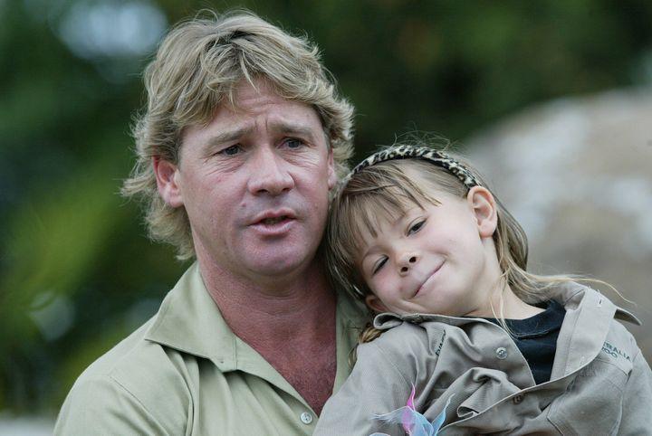 Bindi Irwin with her father, Steve, in 2004.