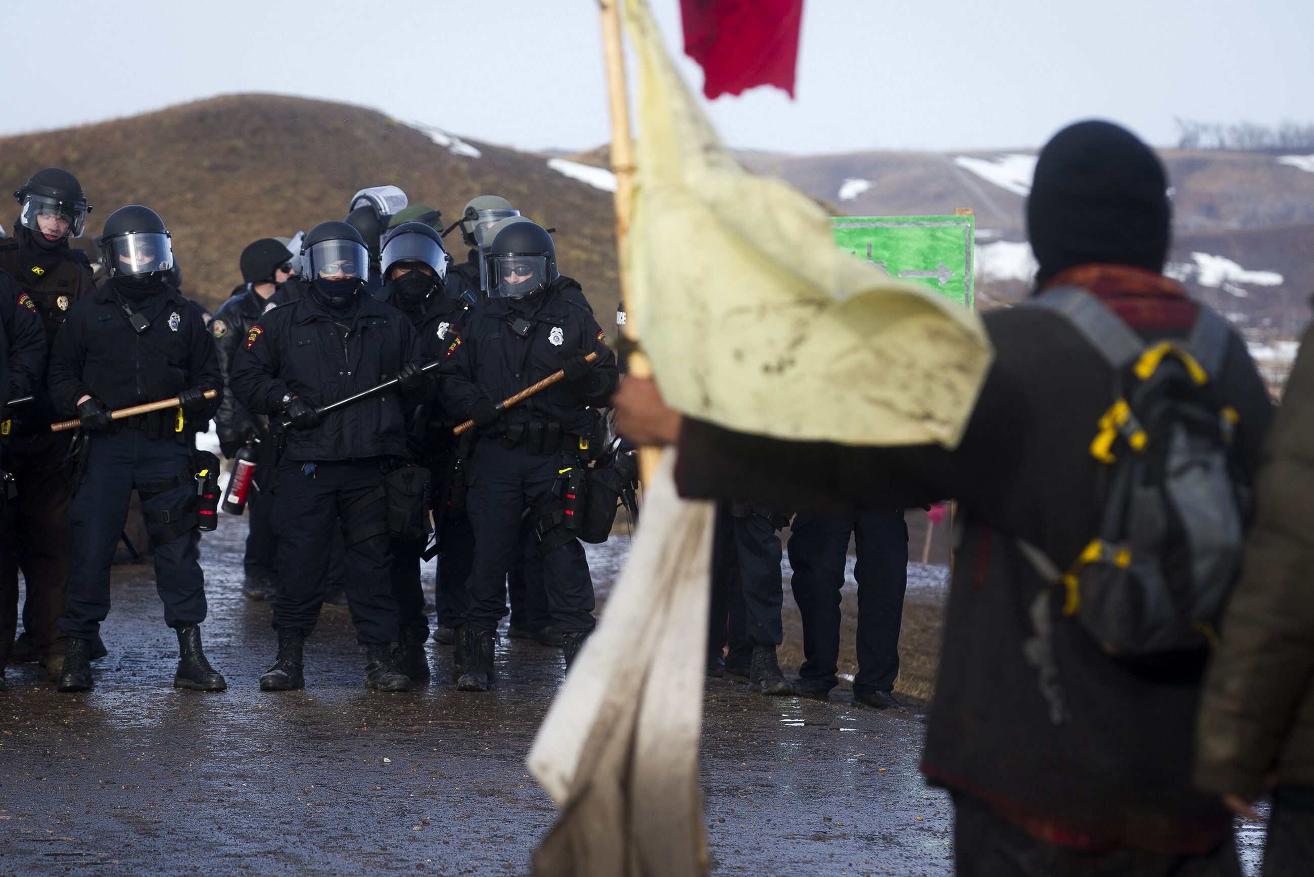 Police Make More Arrests As They Raid Dakota Access Protest Camp For Second