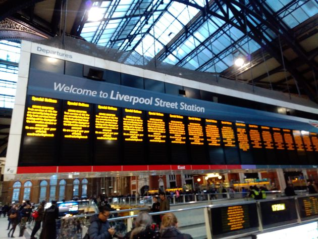 The cancellations at Liverpool Street