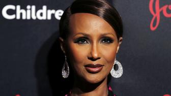 Model Iman arrives to attend the Save the Children Illumination Gala in New York, U.S.,October 25, 2016. REUTERS/Lucas Jackson