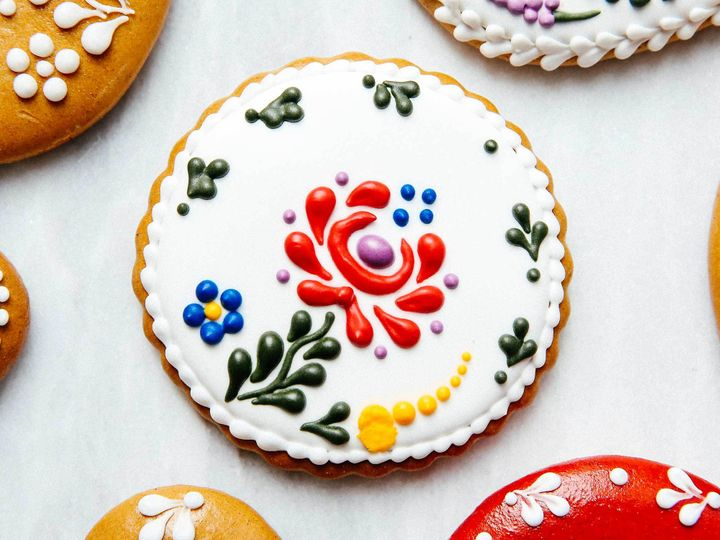 <p><em>Mezossegi</em>, the traditional Hungarian floral print, is also a popular design on folk dresses.</p>