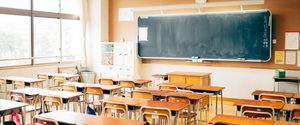 HIGH SCHOOL BUILDING MORNING NO PEOPLE COPY SPACE EAST ASIAN CULTURE BACK TO SCHOOL BULLETIN BOARD ORGANIZATION LARGE JAPANESE CULTURE EMPTY