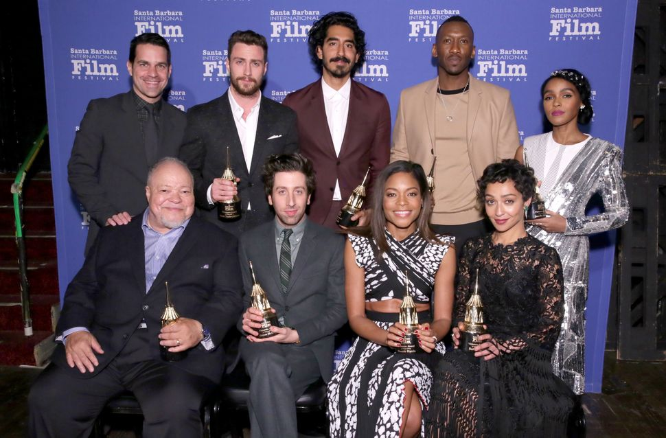 Actors Dev Patel, Mahershala Ali, Janelle Monáe, Naomie Harris and Ruth Negga -- pictured here with Aaron Taylor-Johns