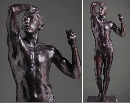 <em>The Age of Bronze</em>, 1877 (cast ca. 1914). Bronze, 71 1/2 x 21 1/4 x 25 1/2 in. Gift of Alma de Bretteville Spreckels,