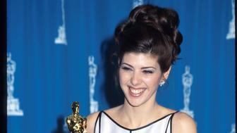 153764 07: Actress Marisa Tomei stands at the 65th annual Academy Awards March 29, 1993 in Los Angeles, CA. Tomei won the Best Supporting Actress award for 'My Cousin Vinny.' (Photo by Barry King/Liaison)