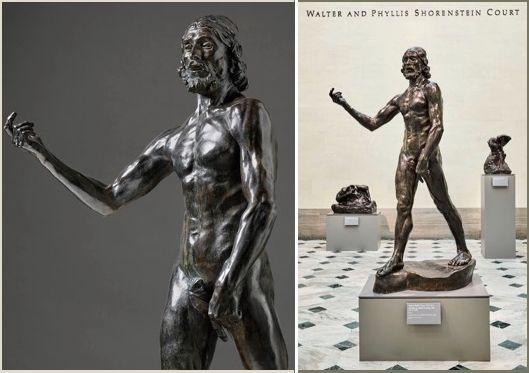 <em>St. John the Baptist Preaching </em>1880 (cast ca. 1914). Bronze, 79 1/2 x 51 5/8 x 38 5/8 in. Gift of Alma de Brettevill