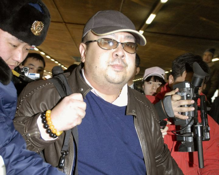 Kim Jong Nam arrives at Beijing airport in Beijing, China, in this photo taken by Kyodo February 11, 2007.