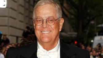 "Businessman David Koch arrives at the Metropolitan Museum of Art Costume Institute Gala Benefit celebrating the opening of ""Charles James: Beyond Fashion"" in Upper Manhattan, New York May 5, 2014.  REUTERS/Carlo Allegri (UNITED STATES  - Tags: ENTERTAINMENT FASHION BUSINESS HEADSHOT)"
