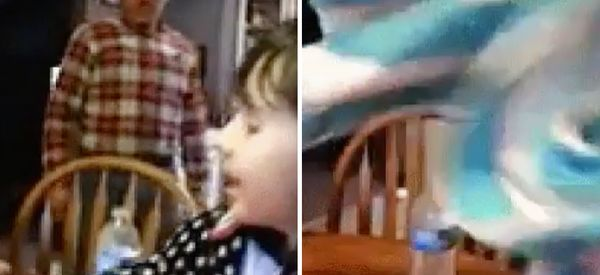 Little Girl Plays A Magic Trick On Her Brother, He Totally Regrets Playing Along