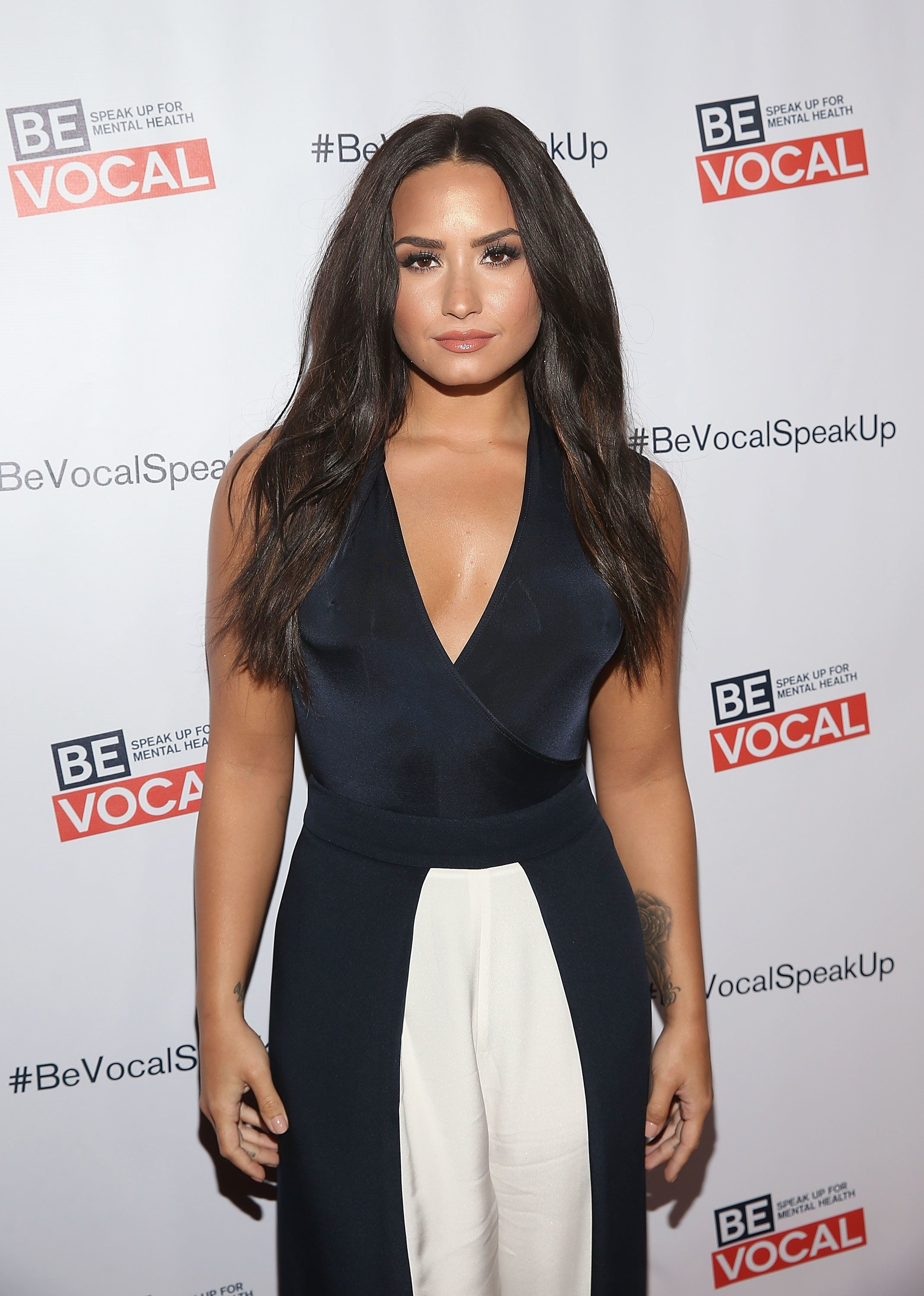 LOS ANGELES, CA - FEBRUARY 22:  Demi Lovato arrives at the premiere of Beyond Silence on February 22, 2017 in Los Angeles, California. Lovato served as the executive producer on the film. Her participation is part of the Be Vocal: Speak Up for Mental Health initiative.  (Photo by Jesse Grant/Getty Images for Be Vocal)