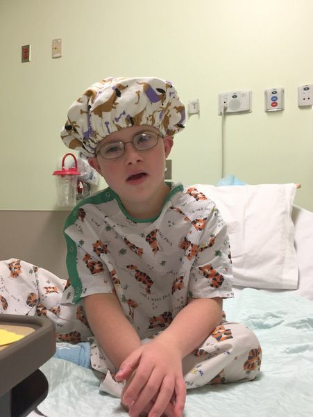 <p>My son Ben, preparing for his umpteenth surgery</p>