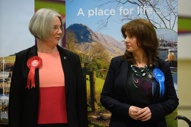 Labour challenger Gillian Troughton (left) in Copeland and winner Trudy Harrison