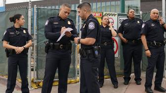 Customs and Border Protection agents at the San Ysidro Port of Entry on Friday, February 10, 2017 in San Ysidro, California.  US Department of Homeland Security (DHS) Secretary John Kelly visited the San Ysidro Port of Entry February 10, 2017 in San Ysidro, California.  / AFP / Sandy Huffaker        (Photo credit should read SANDY HUFFAKER/AFP/Getty Images)