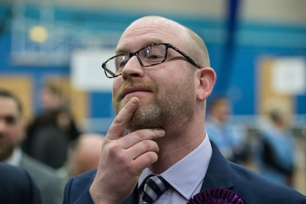UKIP leader Paul Nuttall, defeated candidate in Stoke-on-Trent