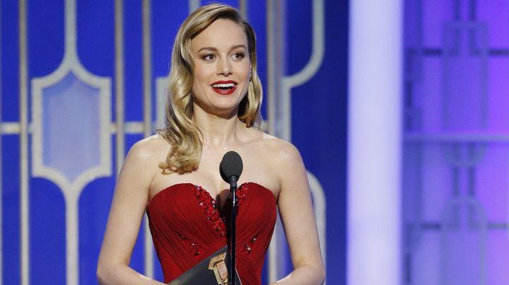 Brie Larson at the Golden Globe Awards.