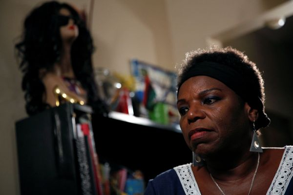 Tanya Walker, a 53-year-old transgender woman, activist and advocate, gives an interview at her apartment in New York City on