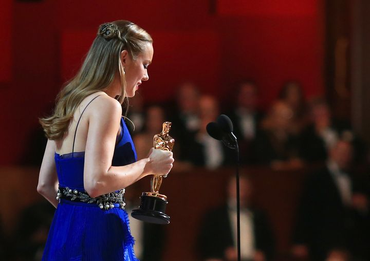 Brie Larson wins Best Actress during the 88th Annual Academy Awards.