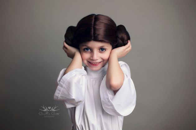 The 7-year-old has also dressed like Princess Leia and BB-8 from the