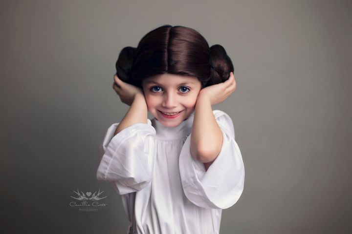 "The 7-year-old has also dressed like Princess Leia and BB-8 from the ""Star Wars"" films."