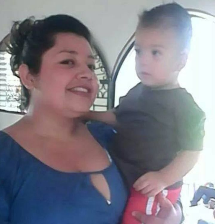Sara Beltran-Hernandez is seen with one of her cousin's children in an undated photo.