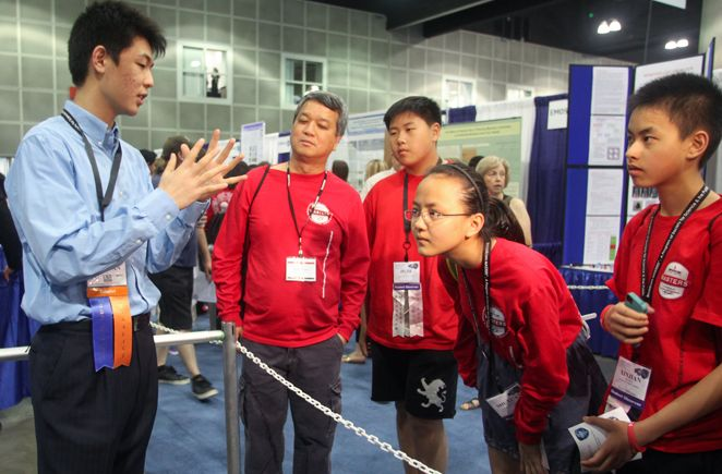 Finalists from the Broadcom MASTERS middle school science and engineering competition have the opportunity to meet finalists