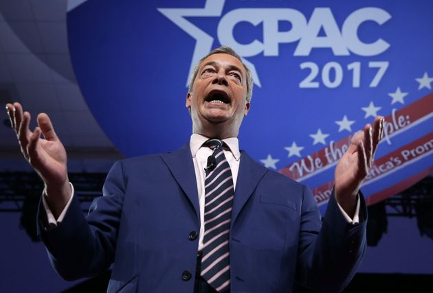 British politician Nigel Farage speaks during the Conservative Political Action Conference on